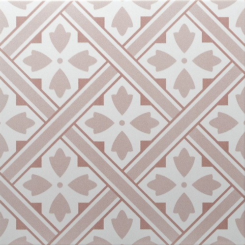 Mr Jones Peony 33cm x 33cm Floor Tile