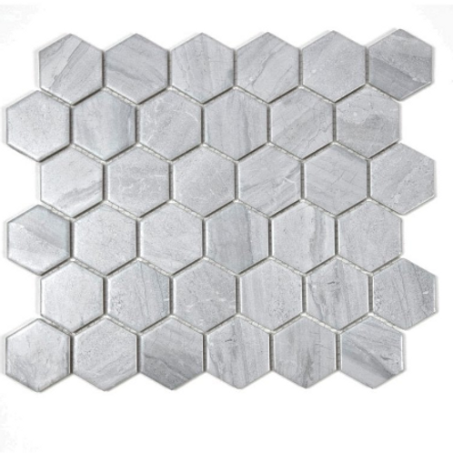 Hexagon Matt Cement (5.1 cm x 5.9cm) 30cm x 28cm Mosaic Tile