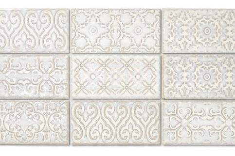 Zurbaran Vanilla 11.2cm x 22.4cm Wall Tile