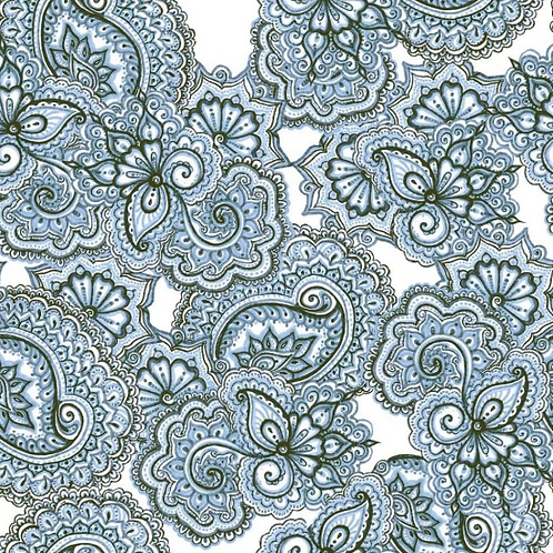 Paisley Laxmi 25cm x 25cm Wall & Floor Tile