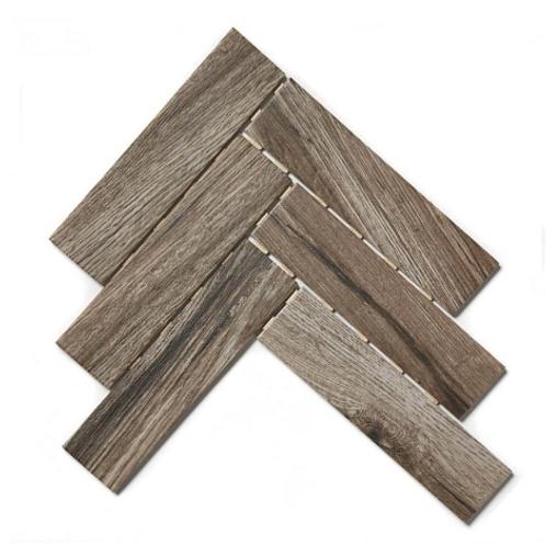 Herringbone Dark Wood 26.7cm x 34.4cm (6cm x 24cm) Wall & Floor Mosaic