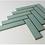 Thumbnail: Herringbone Teal Gloss 20.9cmx 24.7cm (3.2cmx 14.5cm) Wall Mosaic