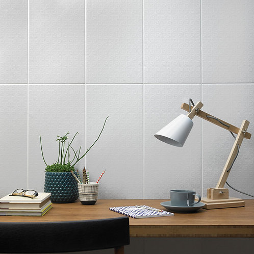 Quatrefoil White Wall 248mm x 498mm x 8.50mm