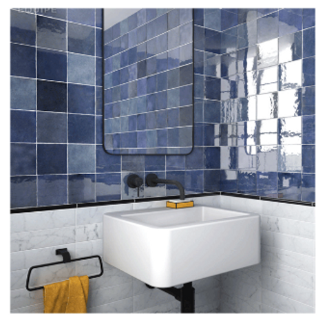 Artisan Colonial Blue 13.2cm x 13.2cm Wall Tile