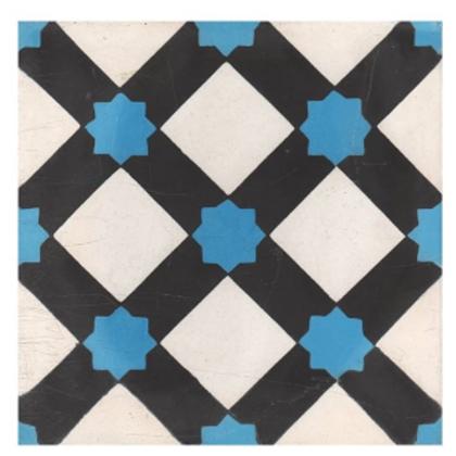Vintage FL043A Blue 20cm x 20cm Wall & Floor Tile