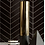 Thumbnail: Herringbone Black Matt 20.4cm x 28cm (4.5cm x 19.5cm) Wall & Floor Mosaic