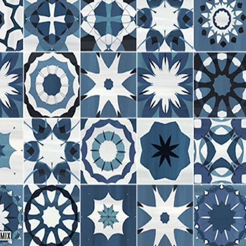 Amazonia Ocean 20.3cm x 20.3cm Wall & Floor Tile