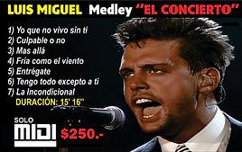 Midi -Luis Miguel Medley - El Concierto