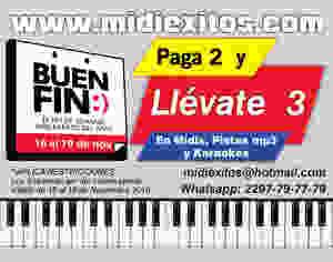 Midiexitos | El Buen fin | Midis, pistas para cantar mp3, karaokes