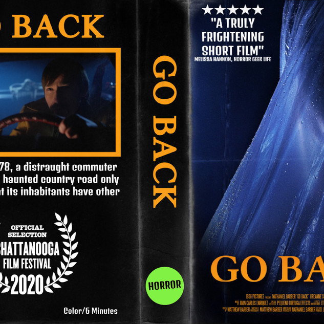 Go Back VHS Cover Style Art