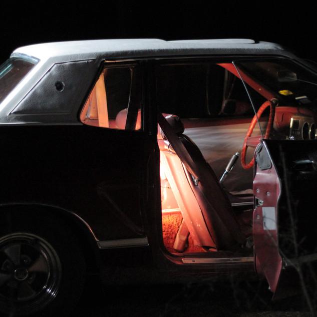 Mustang at night