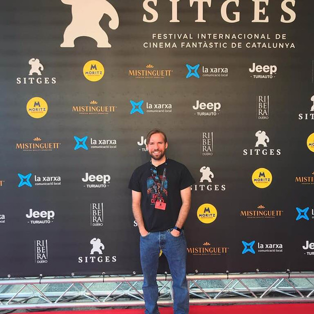 Matthew Barber at Sitges Film Festival.