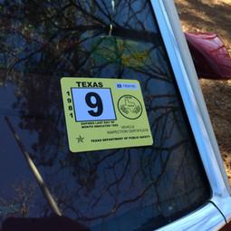 80s Inspection Sticker