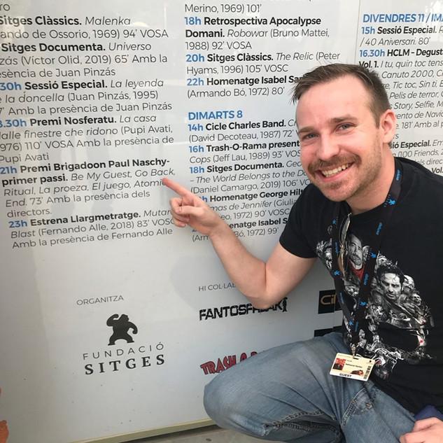 Nathaniel Barber at Sitges Film Festival