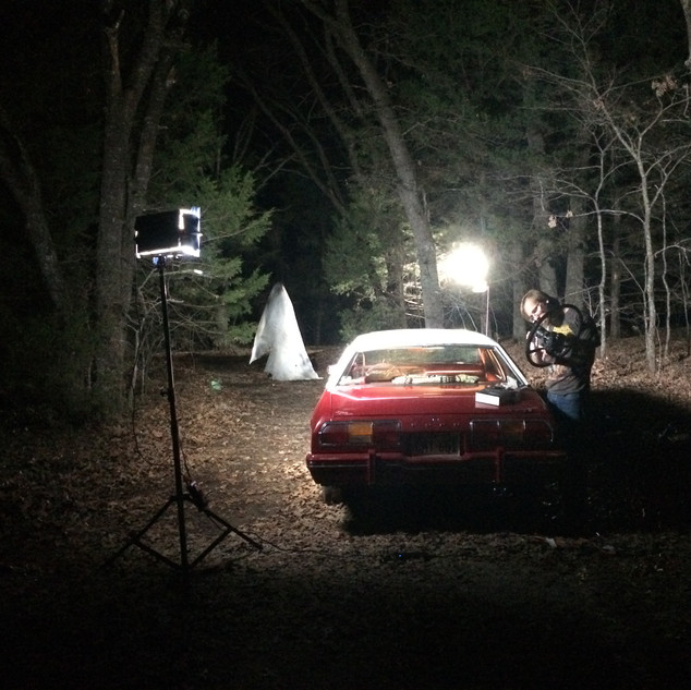 Night falls on the set