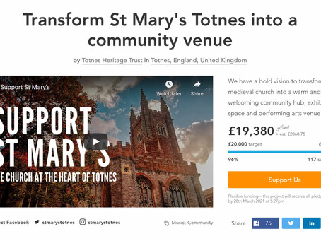 Help us with final push to hit Crowdfunder target