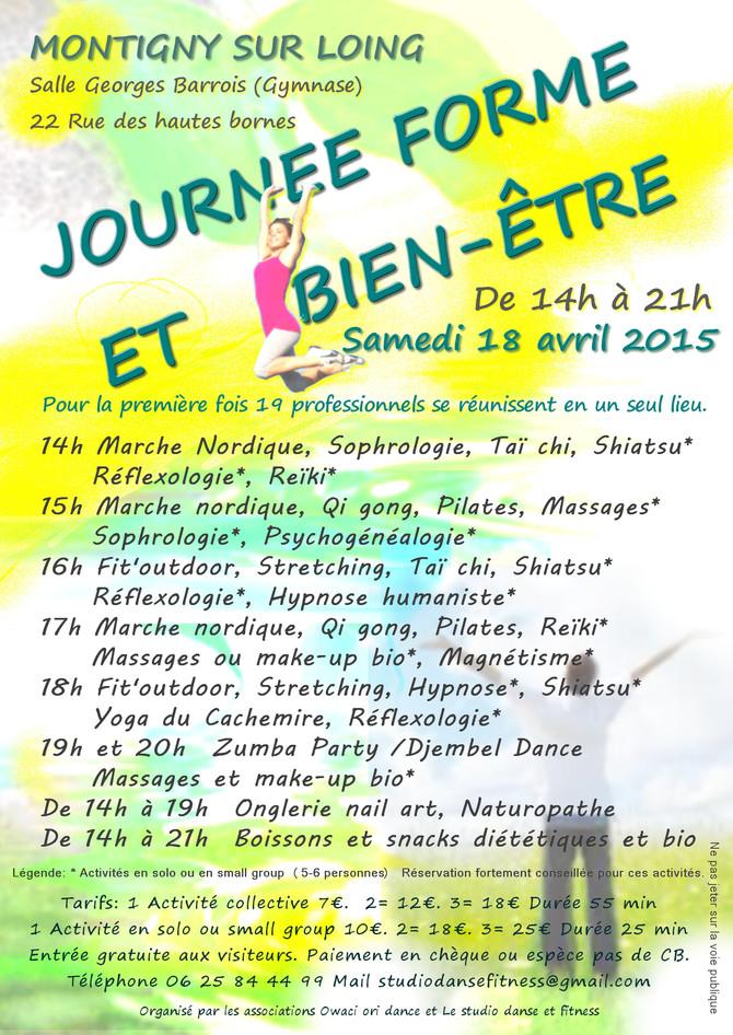 Journée Forme et Bien-Être du 18/04/2015 - CHANGEMENT DE LIEU