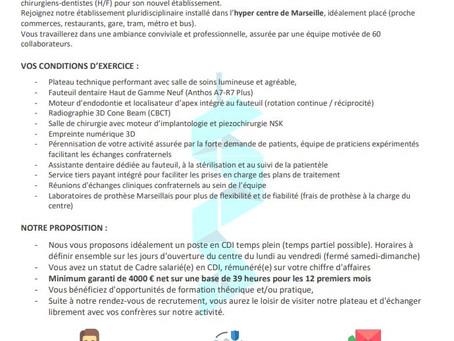 Annonce Job - Marseille