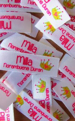 Etiquetas para coser a la ropa