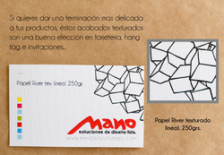Papel River tex lineal 250grs