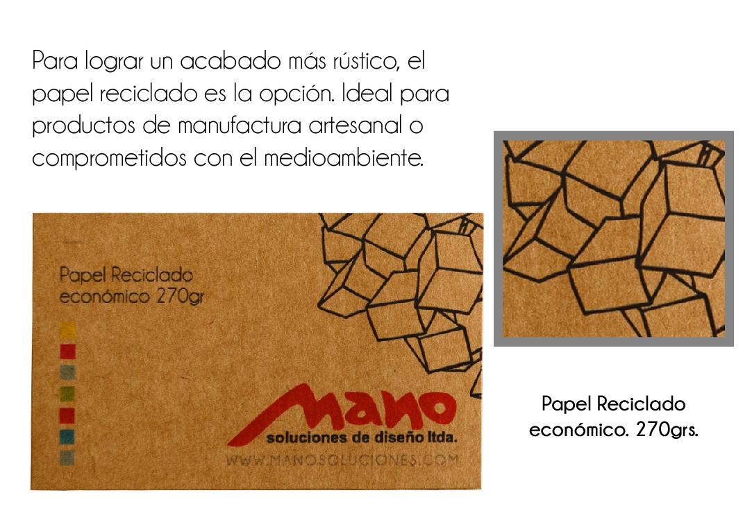 Papel Reciclado Económico 270grs.