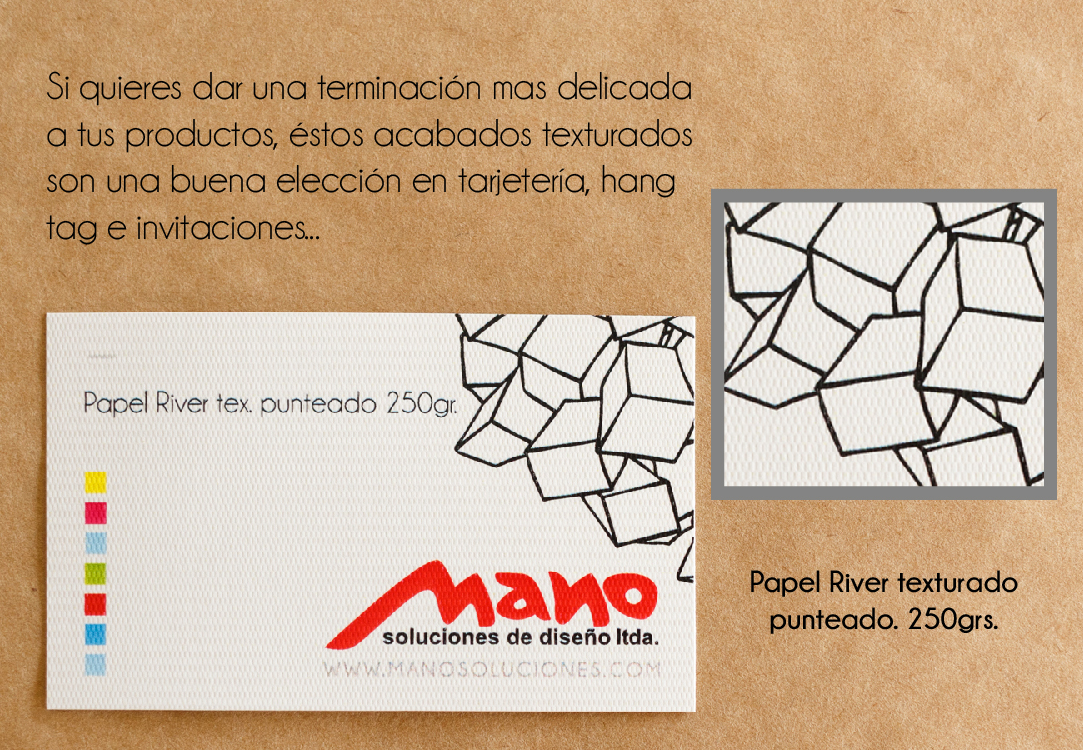 Papel River tex punteado 250gr
