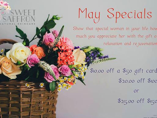 May Specials!