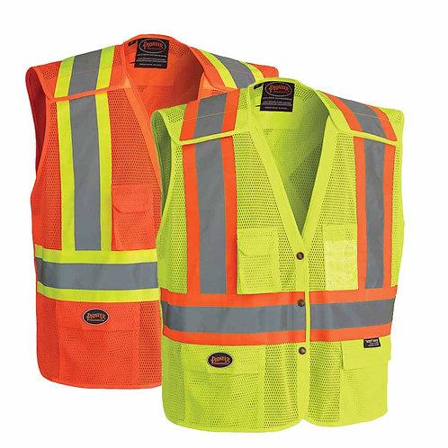 Hi Viz Safety Vest with Snaps