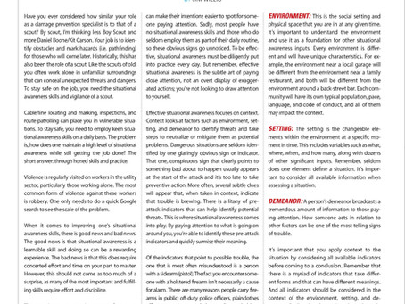 Situational Awareness article in dp-PRO magazine