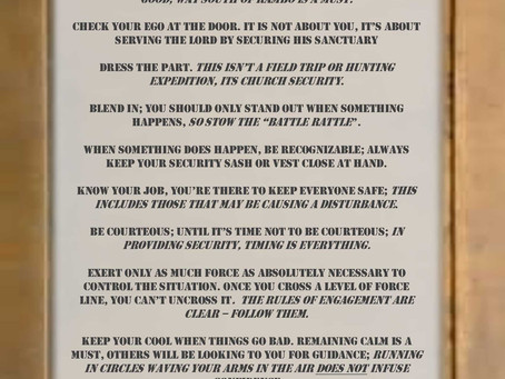 Jim Willis' Twelve Rules of Chruch Security