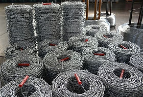Conventional Barbed Wire -Rolls are tied