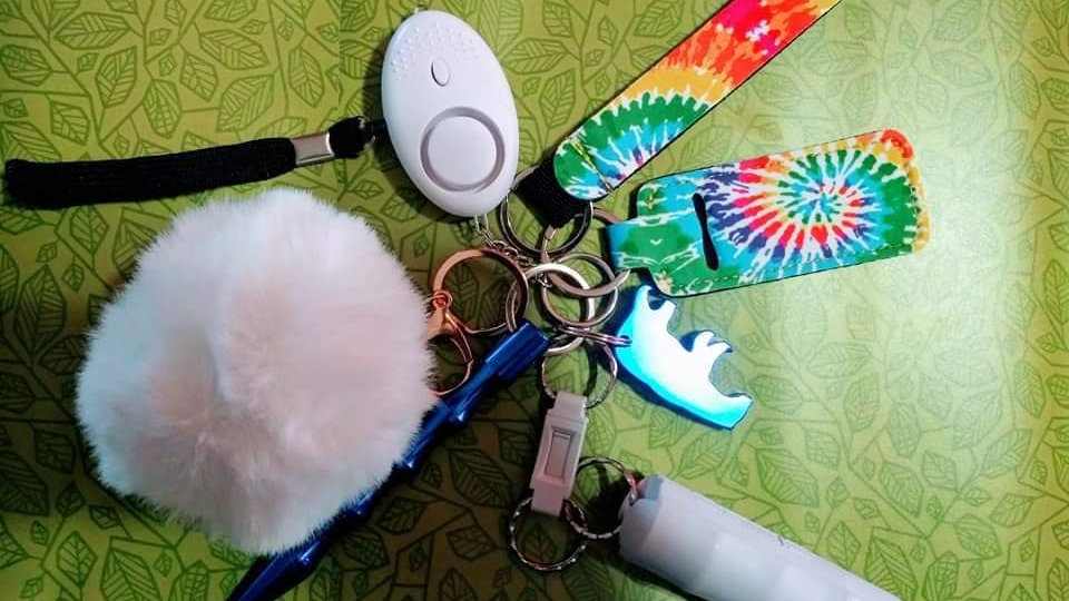 Tie Dye Self Defense Keychain