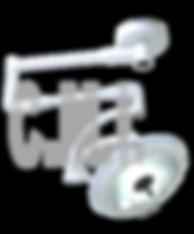  El diseño del equipo cuenta con un satélite con superficies  exteriores lisas, sin tornillos ni bordes para una fácil limpieza y         adecuada desinfección. Además está  equipada con brida en acero al carbón para fijación al techo, con un brazo giratorio de 360° con  capacidad de abatimiento mediante mecanismos  balanceado, y un brazo porta lámpara con giro de 360°, lo que le permite un excelente desplazamiento en tres dimensiones.  Esta lámpara brinda luz libre de sombras a la interposición de  cuerpos. Durante su uso esta lámpara proporciona un diámetro de iluminación ajustable y una profundidad constante de iluminación en el campo operatorio.  El panel digital con teclas de membrana en el satélite cuenta con     control para las funciones de encendido, apagado, indicador luminoso de uso y control de intensidad luminosa el cual es regulado electrónicamente.