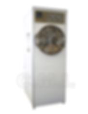 Este autoclave de fucionamiento automático cuenta con control con despliegue digital y gráfico de los procesos y parámetros de la   esterilización como son: tiempo, presión, temperatura de cámara, temperatura de camisa y programas de esterilización para textiles, instrumental, líquidos, hule,  etc. con alarmas audibles y visuales en caso de mal manejo o mal funcionamiento, lo cual facilita considerablemente la operación del equipo. Es uno de los mejores esterilizadores dentro del mercado nacional.   El equipo cuenta con generador de vapor, puerta de seguridad de acero con Brazos Radiales y doble cámara fabricada en Acero Inoxidable. La puertade  seguridad  de  presión esta construida  en  placa  de  acero  inoxidable  tipo  304  de  1/2 pulgada de espesor, con sistema de seguridad contra apertura en caso de existir presión de vapor en la cámara de esterilización.