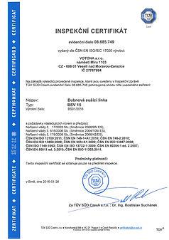 Сертификат Чешской Республики