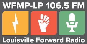 WFMP 106.5FM Louisville Forward Radio Logo (rectangle).png