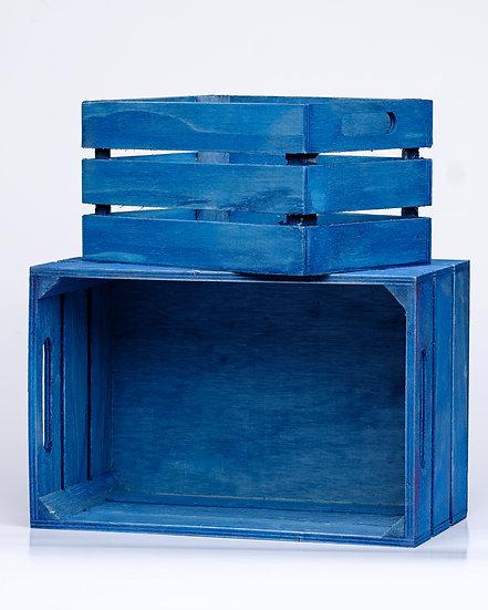 Träback blå