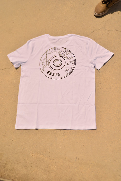 T-Shirt Skaid Wheel white
