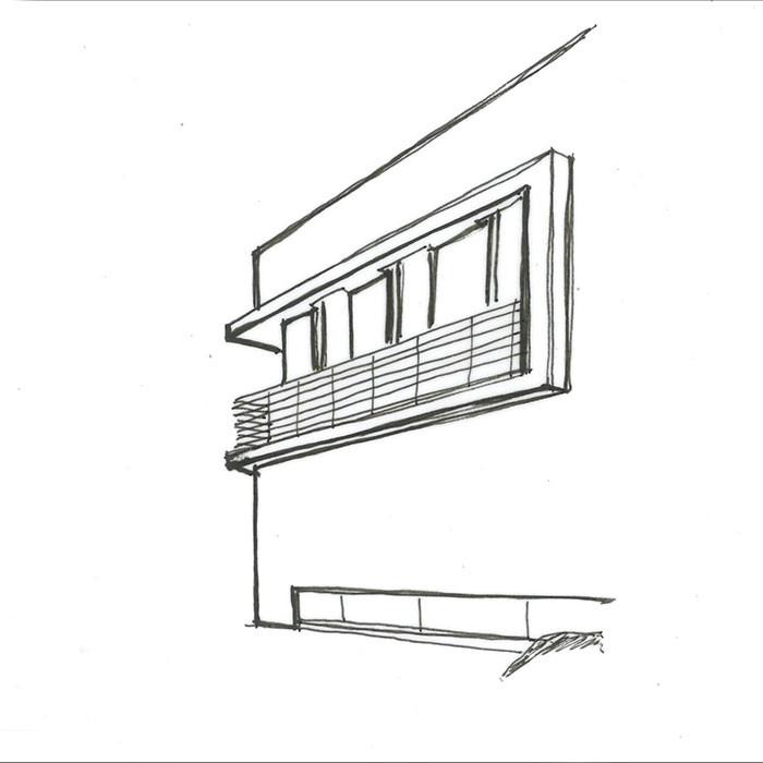 Skizze Fassadenstudie
