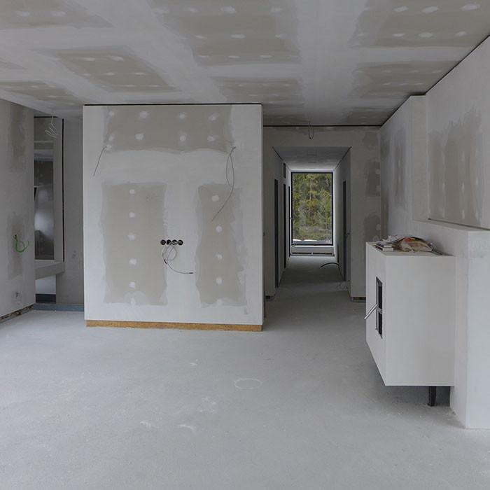 Innenausbau mit Gipskartonplatten