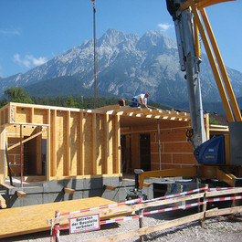 Aufbau der Dachkonstruktion