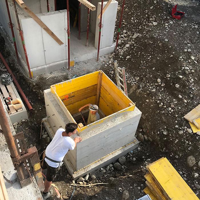 Arbeiten auf der Baustelle