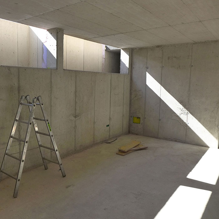 Kellerraum mit Lichtschlitz
