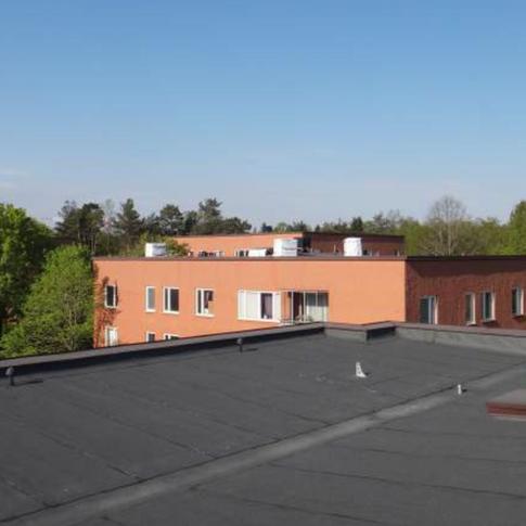 Montering ny papp på 6 tak. Toffelbacken 27, 29, 31, 33 & 35, Hägersten, Sverige