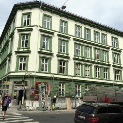 Sverdrups gate 2, Oslo. Reparasjon av fasad och tillbyggning av 4 lägenhet