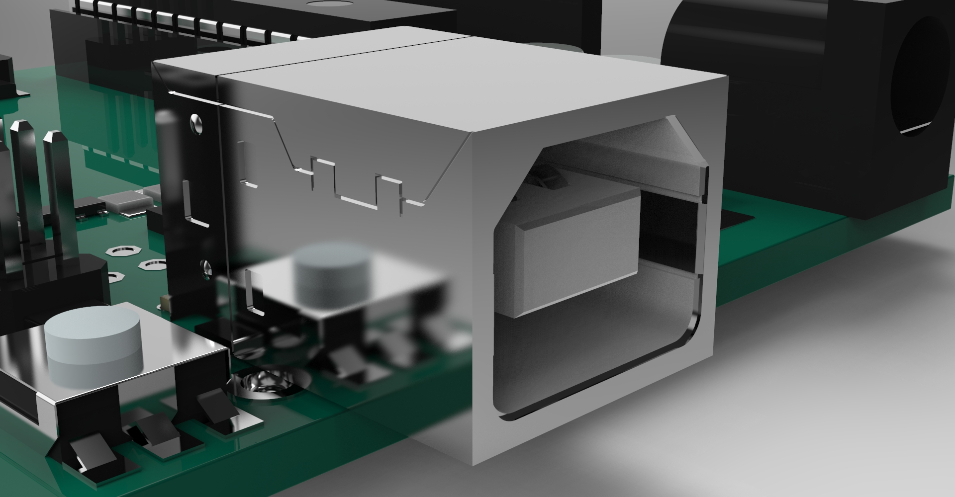 Arduino USB closeup