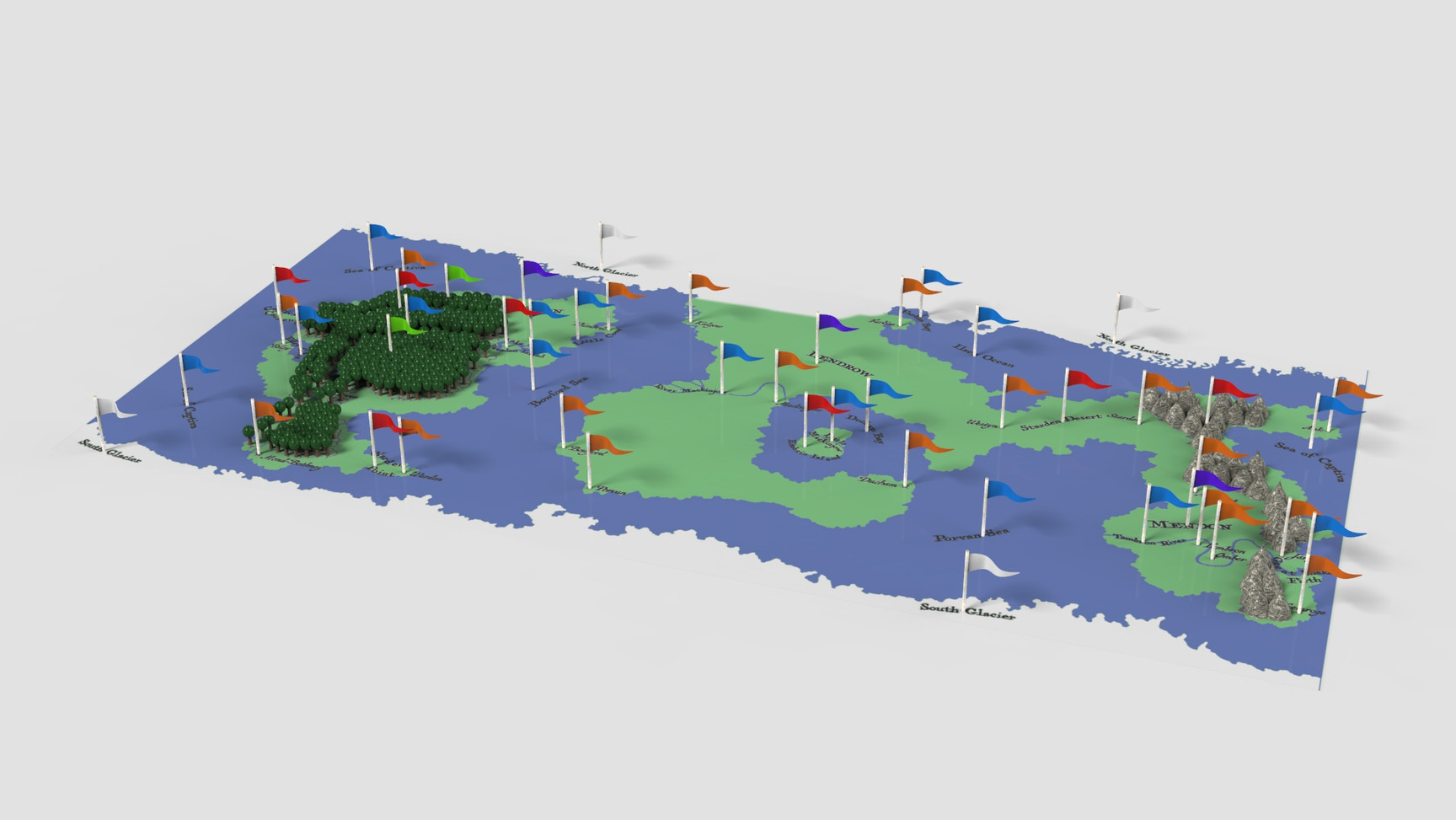 Render (flags mark locations)