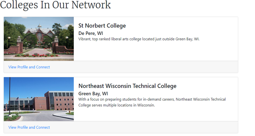 COLLEGE NETWORK PAGE