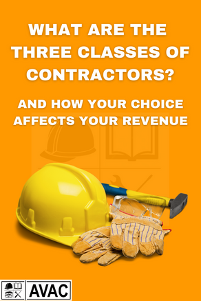 What Are The Three Classes Of Contractors?