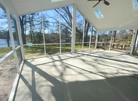 Screened Porch Addition in Northern Neck, Virginia